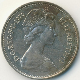 Engeland 5 New Pence 1979 KM#911