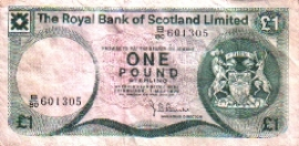 Royal Bank of Scotland Limited P336 1 Pound Sterling 1979