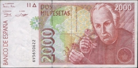 Spanje P164: 2.000 Pesetas 1992