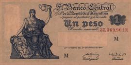 Argentinië P257.var1 1 Peso 1947