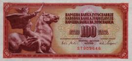 Joegoslavië P80.b 100 Dinara 1965