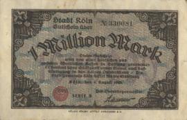 Köln 2684.g 1.000.000 Mark 1923