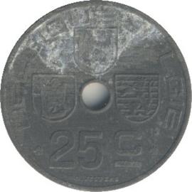 Belgique KM131 25 Centimes 1941-1947