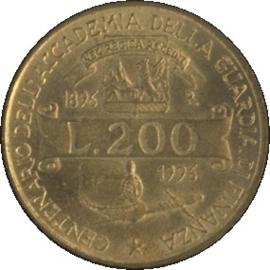 Italië KM184 200 LIRE 1992R