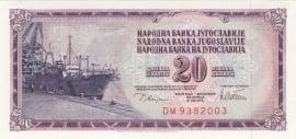 Joegoslavië P088.a 20 Dinar 1978 UNC
