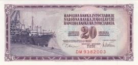 Joegoslavië P88.a 20 Dinara 1978-81