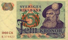 Zweden P51.a 5 Kronor 1965-81