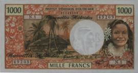 Nieuwe Hebriden  P20d 1.000 Francs 1970-80