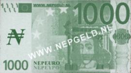 Nepgeld  1.000 Nepeuro (No date)
