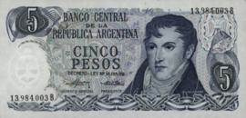 Argentinië P294.a1 5 Pesos 1974-76 (No date)