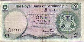 Royal Bank of Scotland plc. P341.b 1 Pound Sterling 1984
