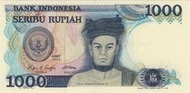 Indonesië H322: 1.000 Rupiah 1987