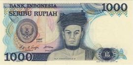 Republiek Indonesië 1951 - Heden P124.a 1.000 Rupiah 1987