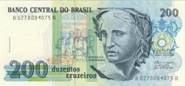 Brazilië P229: 200 Cruzeiros No Date 1990 UNC