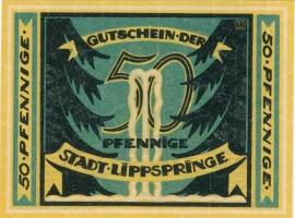 Lippspringe, Bad (Stadt) 50 Pfennig 1921