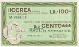 l'Iccrea - 100 Lire