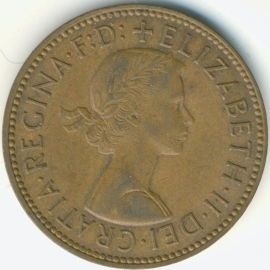 Engeland ½ PENNY 1966 KM# 896
