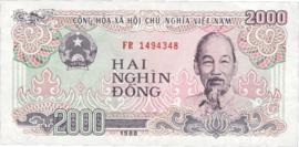 Viet Nam P107.b 2.000 Dông 1988