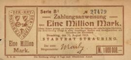 Straubing 4904.i2 1.000.000 Mark 1923