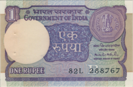 India P078Ag 1 Rupee 1983-84 BNL