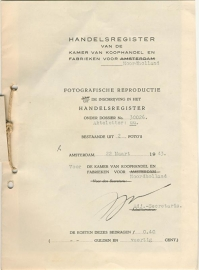 Nederland, Noordholland, Fotografische Reproductie inschrijving 1943