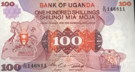 Oeganda P19.b 100 Shillings 1982 (No date)