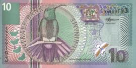 Suriname PLS22.2.a1 10 Gulden 2000