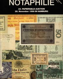 Auction catalogue Notaphilie 1998-11