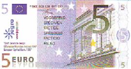 Euro imitatiegeld Serie 1997