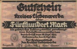 Liebenwerda 2720.4b 500 Mark 1922