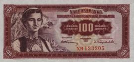 Joegoslavië P69 100 Dinara 1955