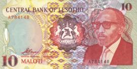 Lesotho P11 10 Maloti 1990