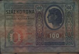 Oostenrijk-Hongarije P12 100 Kronen 1919 (No date)