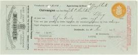 Nederland, Dordrecht, Verzekeringspolis, Polis en nota, 1923