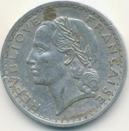 Frankrijk 5 Francs KM888 (en varianten) 1933-1950