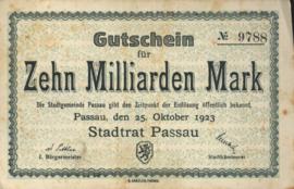 Passau 4243.p 10.000.000.000 Mark 1923