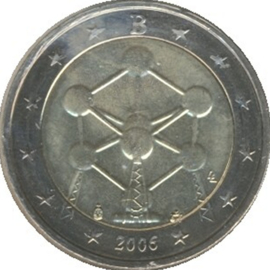 Belgium KM241 2 Euro commemorative 2006 Atomic Model