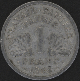 Frankrijk 1 Franc KM902 1944B Vichy