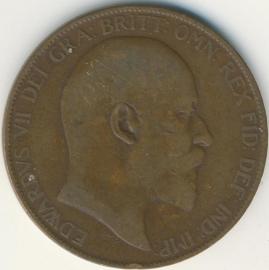 Engeland 1 PENNY 1907 KM# 794