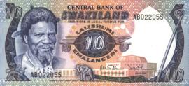 Swaziland P10.b 10 Emalangeni 1974 (No date)