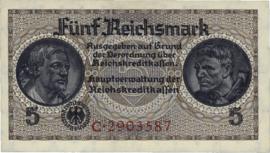 Reichskreditkassenscheine Ros553 5 Mark 1939