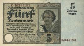Duitsland P169.b 5 Rentenmark 1926