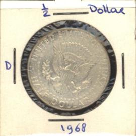 VS/USA ½ Dollar 1968 D KM202a Zilver