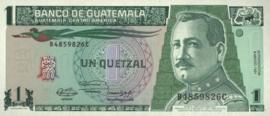 Guatemala P73.b 1 Quetzal 1991