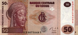 Congo Democratische Republiek (Kinshasa) P97.b 50 Francs 2007-13