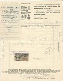 Nederland, Leiden,  Nota, Het Roode Anker, 1937