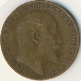 Engeland 1 PENNY 1909 KM# 794