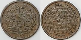Nederland Sch.1006 1/2 Cent 1909
