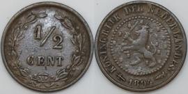 Nederland Sch.1000 1/2 Cent 1894