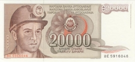 Joegoslavië P95 20.000 Dinara 1987